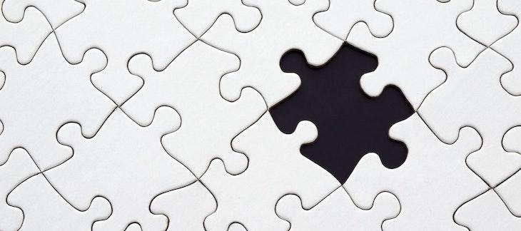 Ein Puzzleteil ist verloren gegangen